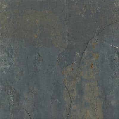 Slate Rustic Gold 15.87 in. x 15.87 in. Slate Floor and Wall Tile (1.78 sq. ft.)