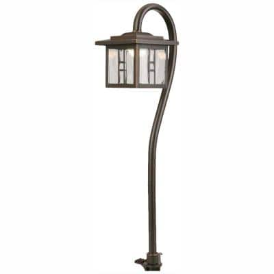 Low-Voltage 10-Watt Equivalent Oil-Rubbed Bronze Outdoor Integrated LED Landscape Tiffany Style Path Light