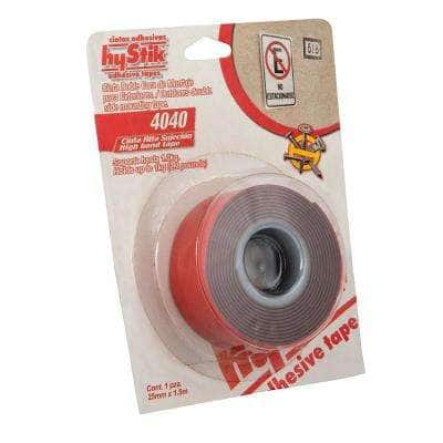 4040 1 in. x 1.67 yds. Gray Exterior Mounting Tape with Red Liner (1-Roll)