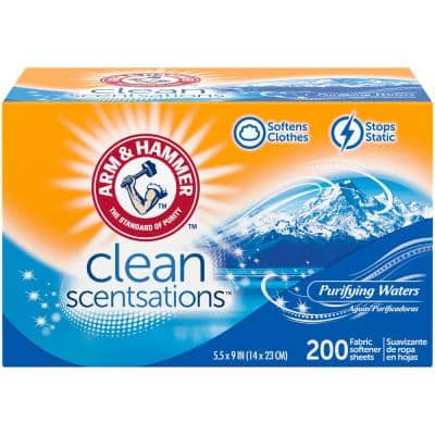 AH Purifying Waters Dryer Sheets (200-Count, 1-Pack)