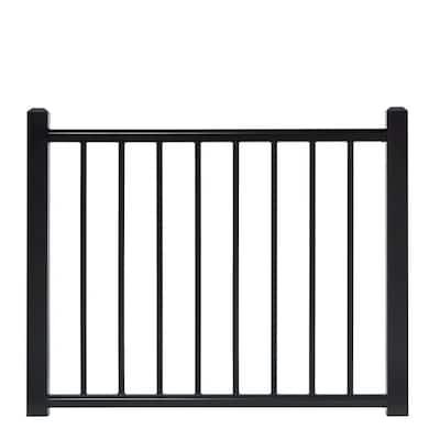 4 ft. x 3 ft. Adjustable Black Aluminum Deck Gate