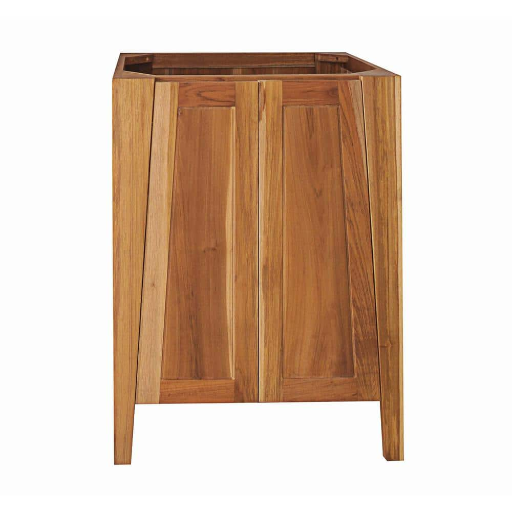 Ecodecors Significado 24 In L Teak Vanity Cabinet Only In Natural Teak St Bt 24 1 The Home Depot