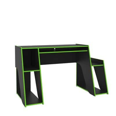 Mission 47 in. Black and Green Gaming Desk