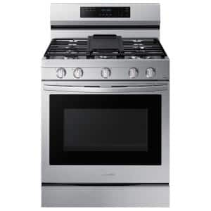 6 cu. ft. Smart Wi-Fi Enabled Convection Gas Range with No Preheat AirFry in Stainless Steel