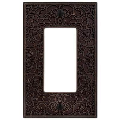 Momfort 1 Gang Rocker Metal Wall Plate - Aged Bronze
