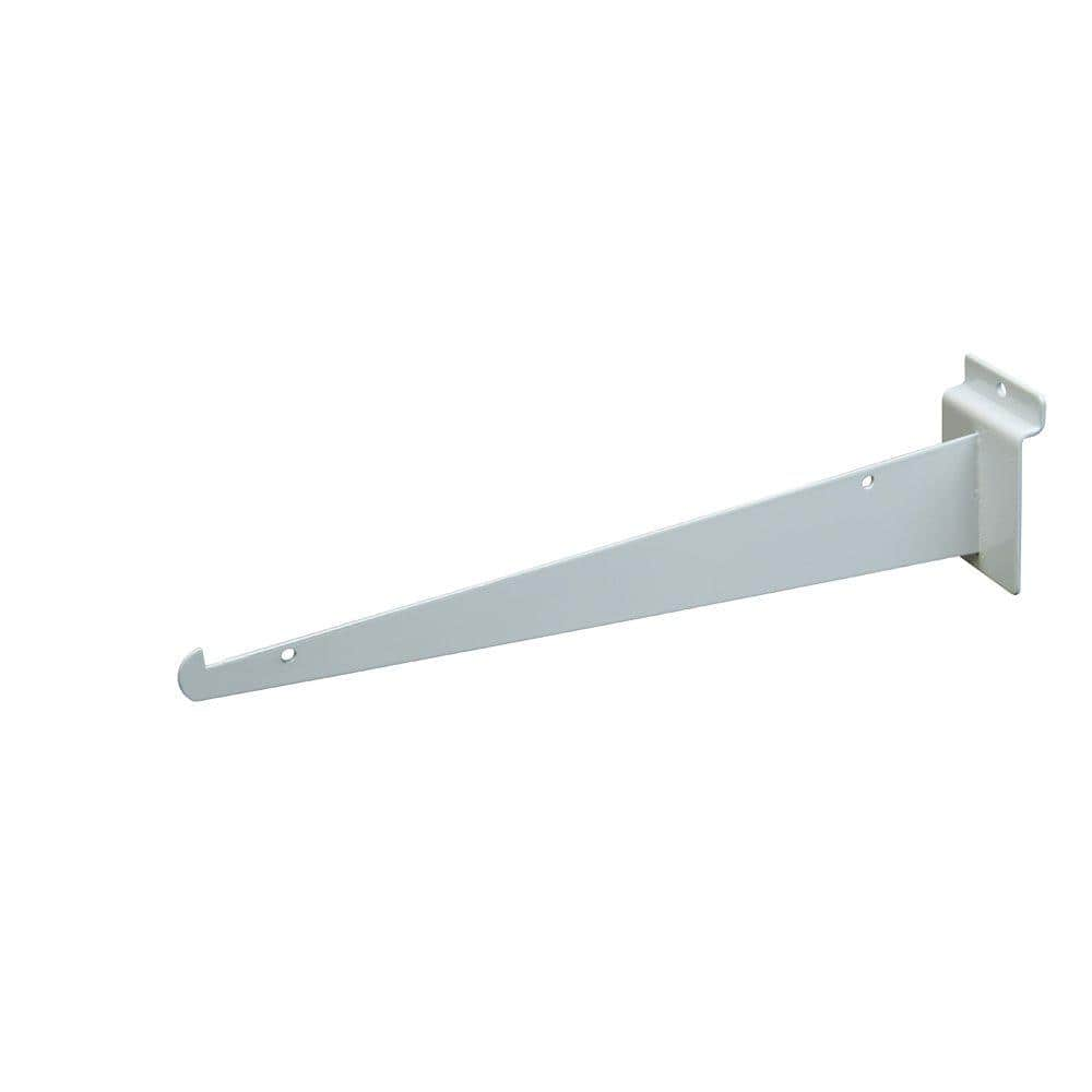 12 White Slatwall Shelf Bracket with Lip Fits All Slatwall Panels Only Hangers 24 Pcs Lot