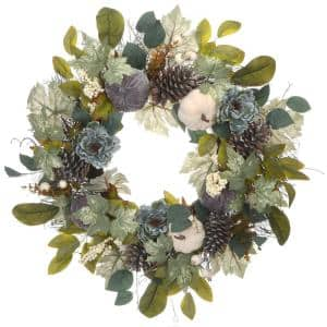 30 in. Harvest Mixed Peony Flower Wreath