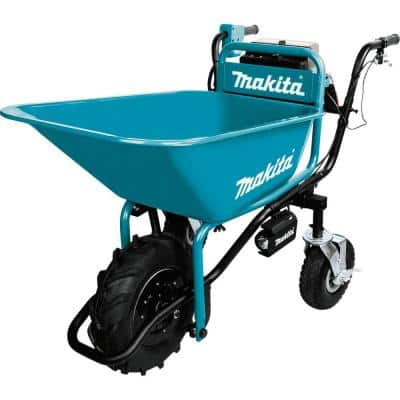 18-Volt X2 LXT Lithium-Ion Brushless Cordless Power-Assisted Wheelbarrow (Tool-Only) with Steel Bucket