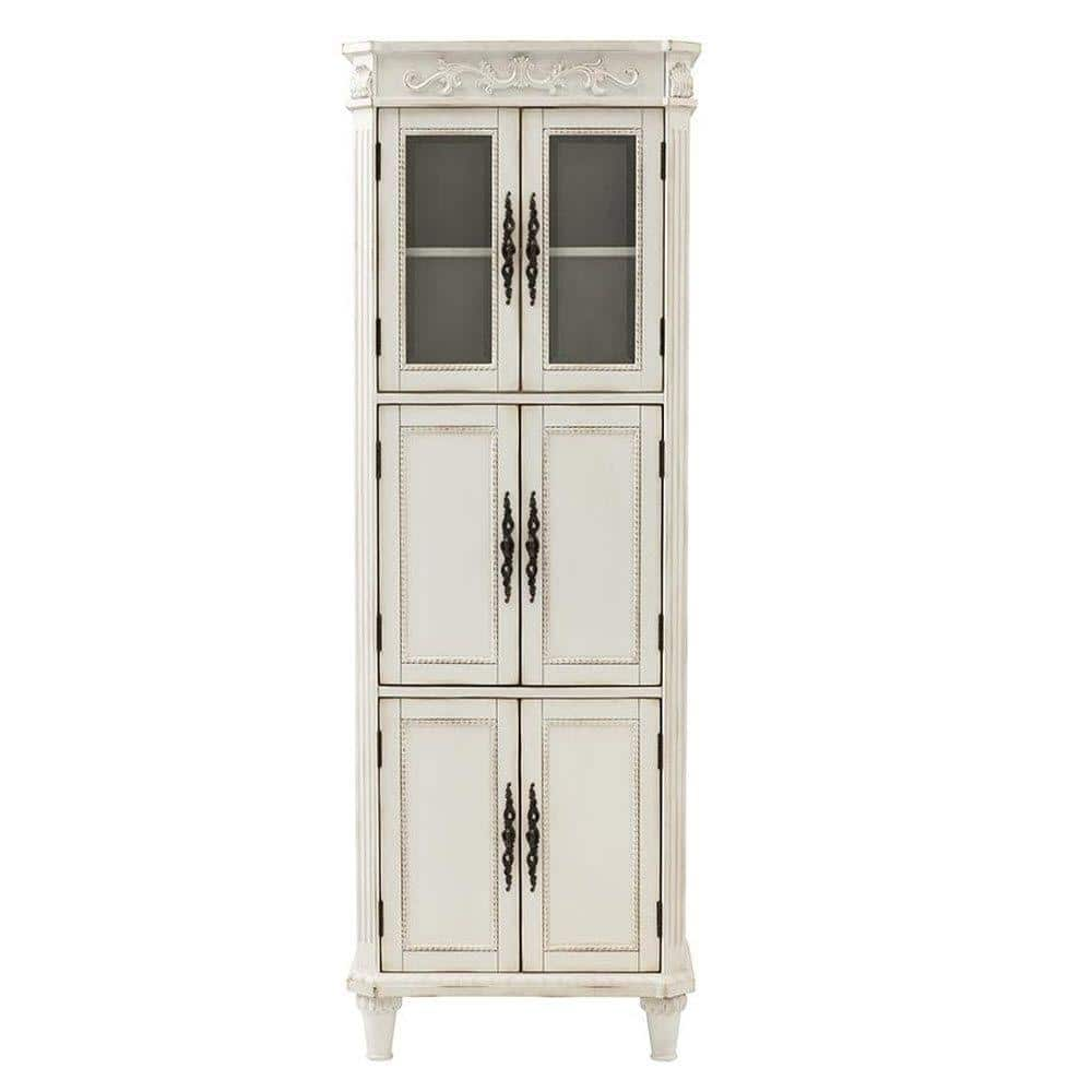 Home Decorators Collection Chelsea 25 In W X 14 In D X 72 In H Bathroom Linen Cabinet In Antique White 1590000410 The Home Depot