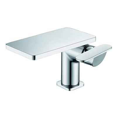 Single Hole Single-Handle Bathroom Faucet in Polished Chrome