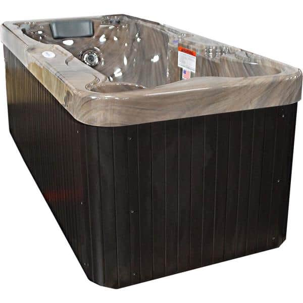 Hudson Bay Spas 1 Person 19 Jet Rectangle Spa With Stainless Jets And 110 Volt Gfci Cord Included Lpixp13 The Home Depot