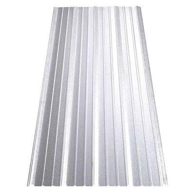 8 ft. SM-Rib Galvalume Steel 29-Gauge Roof/Siding Panel in Nickel