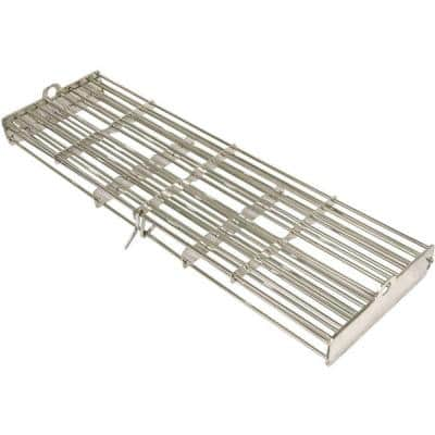 17 in. Stainless Steel Grill Rotisserie Basket