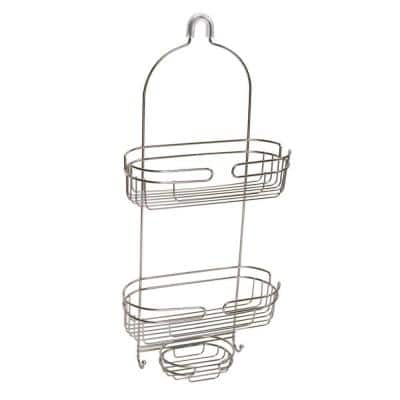 25.25 in. Premium Metal Over-the-Showerhead Caddy in Stainless Steel