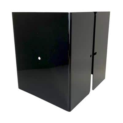 5.5 in. x 5.5 in. x 1/2 ft. H Powder Coated Black - Galvanized Steel Pro Series Mailbox and Fence Post Guard