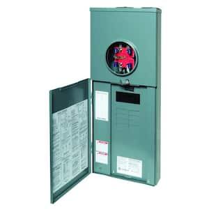 Homeline 100 Amp 8-Space 16-Circuit Outdoor Ringless-Horn Overhead/Underground Main Breaker CSED