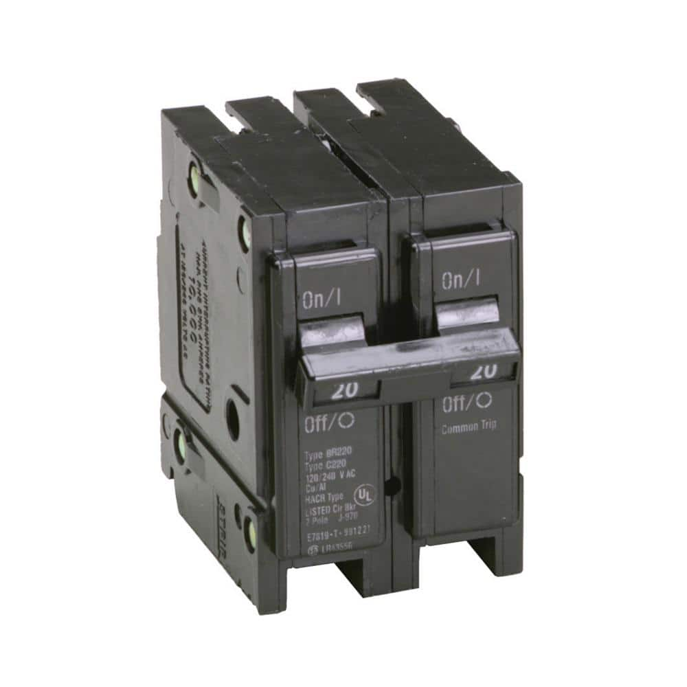 2-20amp one pole and 1-20amp 2 pole Cuttler Hammer Circuit breakers