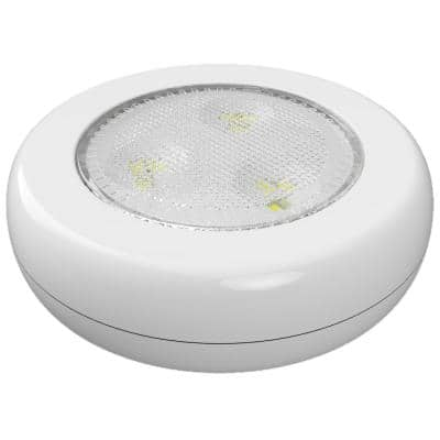 Ultra-Thin LED White Puck Light (2-Pack)