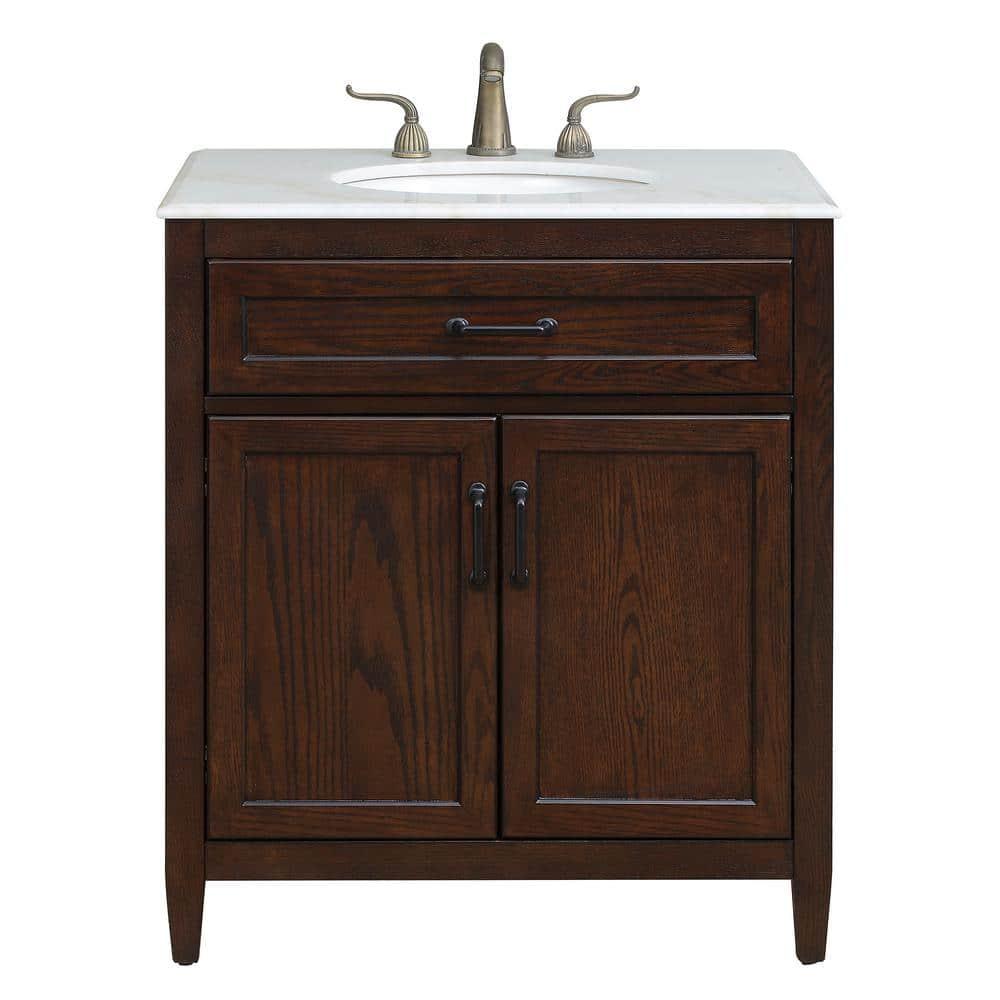 Home Decorators Collection Walden 31 In, Mocha Bathroom Vanity