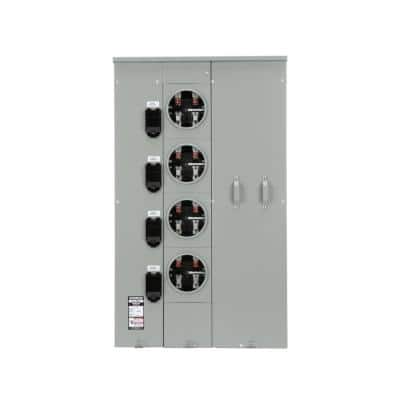 Uni-PAK 4-Gang 400 Amp Ringless Style Multi-Family Metering with Horn Bypass