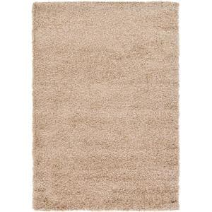 Solid Shag Taupe 4 ft. x 6 ft.Area Rug
