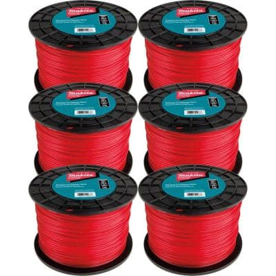 0.105 in. Round Trimmer Line Red 1,150 ft., 5 lbs. (6-Pack)