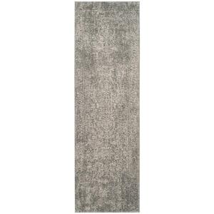 Evoke Silver/Ivory 2 ft. x 15 ft. Runner Rug