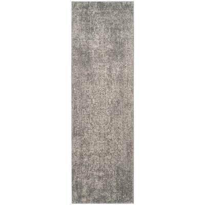 Evoke Silver/Ivory 2 ft. x 9 ft. Runner Rug