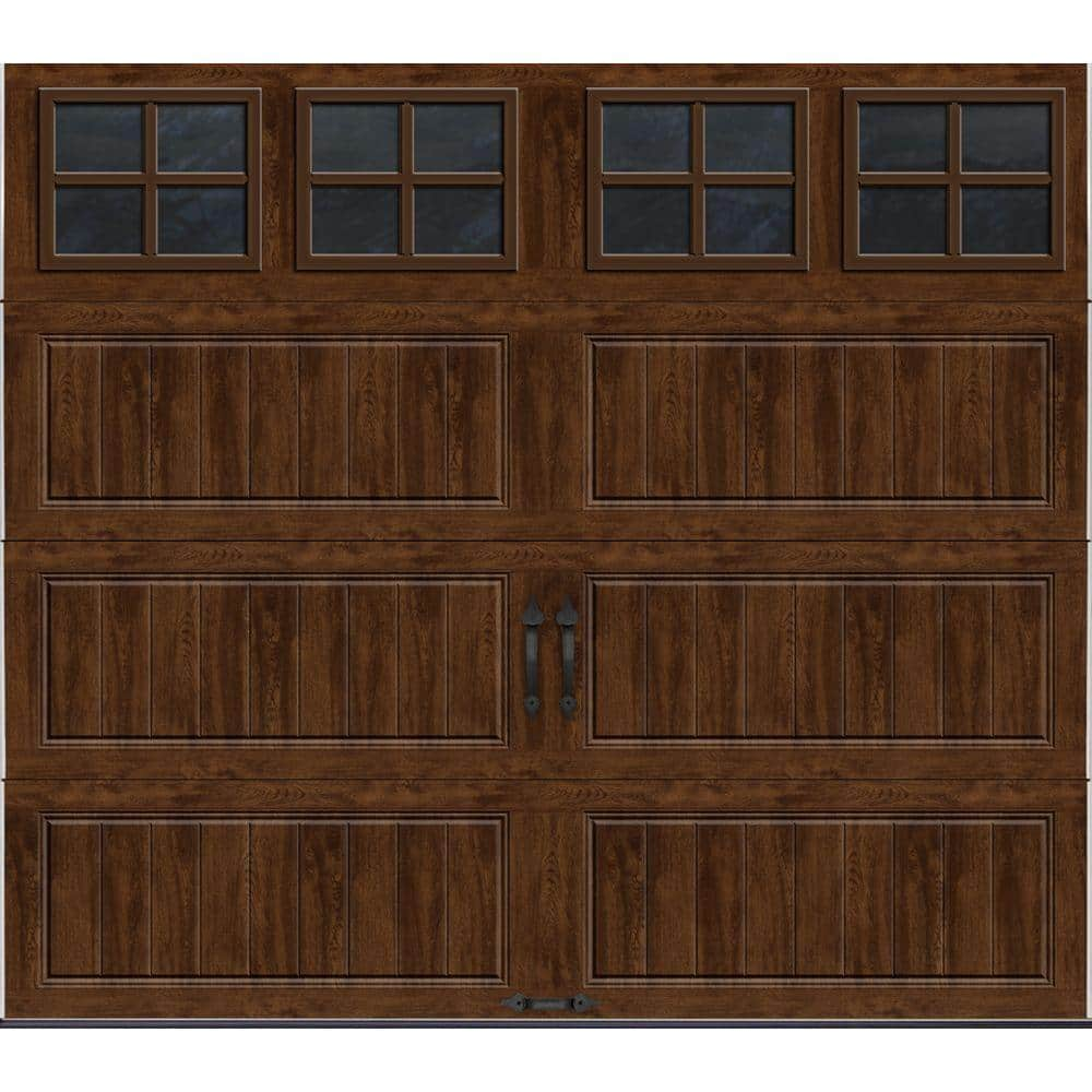 Clopay Gallery Collection 8 ft. x 7 ft. 6.5 R-Value Insulated Ultra-Grain Walnut Garage Door with SQ22 Window