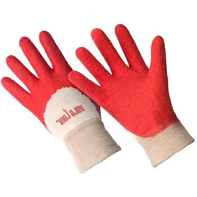 Ladies Premium Medium/Large Latex Coated Glove - Tangerine