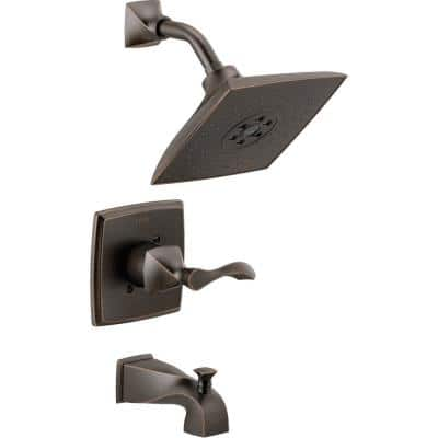 Everly 1-Handle 3-Spray Tub and Shower Faucet in SpotShield Venetian Bronze with H2Okinetic Technology (Valve Included)