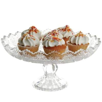 Jewelite 1-Tier Clear Glass Cake Stand