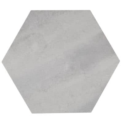 Metro Grey Hexagon 14 in. x 16 in. Matte Glazed Porcelain Floor and Wall Tile (10.07 sq. ft. / Case)