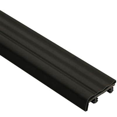 Trep-S Black 1-1/32 in. x 8 ft. 2-1/2 in. Thermoplastic Rubber Replacement Insert
