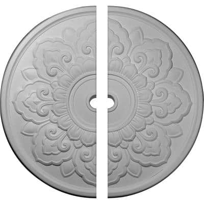 50-1/8 in. x 3-5/8 in. x 1-3/4 in. Lorry Urethane Ceiling Medallion, 2-Piece (Fits Canopies up to 14-1/8 in.)