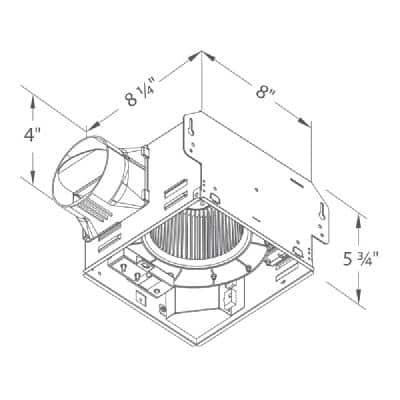 GreenBuilder Series 80 CFM Ceiling Bathroom Exhaust Fan with LED Light and Humidity Sensor, ENERGY STAR
