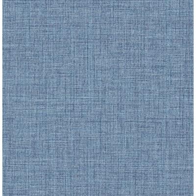 Lanister Blue Texture Strippable Non Woven Wallpaper