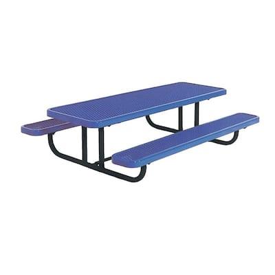 8 ft. Diamond Blue Commercial Park Preschool Portable Rectangular Table
