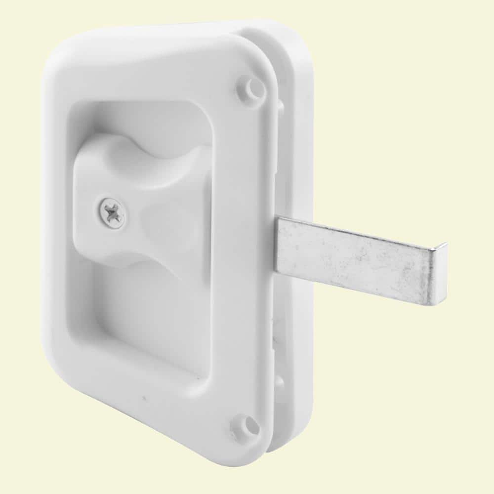 prime line white sliding screen door latch with screw a 228 the home depot