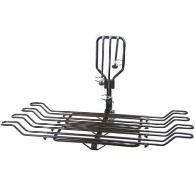 4-Bike Hitch-Mounted Steel Tray Bicycle Rack