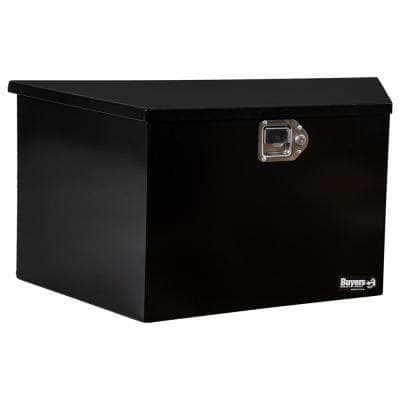 16.38 in. x 15 in. x 35.25 in. Gloss Black Steel Trailer Tongue Truck Tool Box