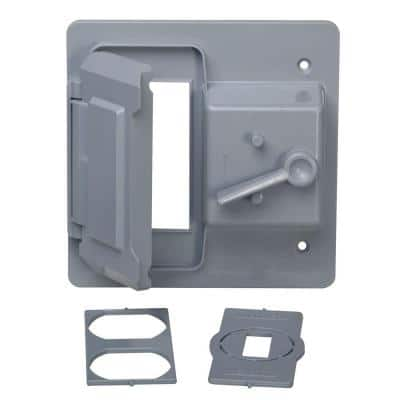 2-Gang Gray Toggle and Receptacle/GFCI Weatherproof Cover