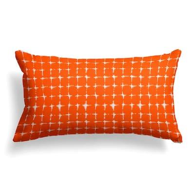 Sea Island Orange Rectangular Lumbar Outdoor Pillow
