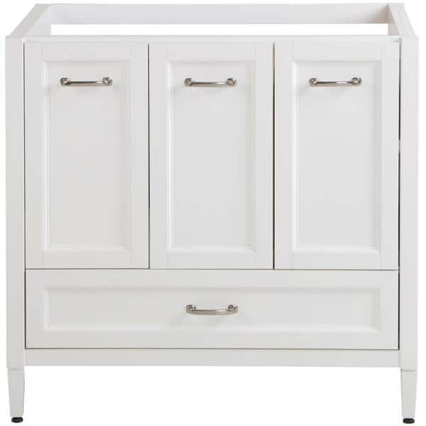 Home Decorators Collection Claxby 36 In W X 34 In H X 21 In D Bath Vanity Cabinet Only In White Cb36 Wh The Home Depot
