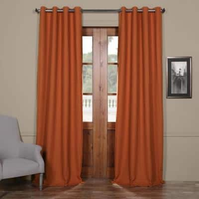 Persimmon Grommet Blackout Curtain - 50 in. W x 96 in. L