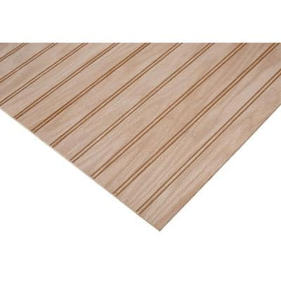 1/4 in. x 2 ft. x 8 ft. PureBond Red Oak 1-1/2 in. Beaded Plywood Project Panel