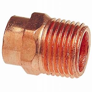 1/2 in. x 3/8 in. Copper Pressure Cup x MIP Male Adapter Fitting