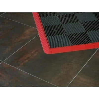 2.5 in. x 2.5 in. Royal Blue Corner Edging for 15.75 in. Modular Tile Flooring (2-Pack)