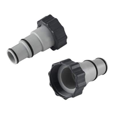 Adapter A Replacement Hose for Threaded Connection Pool Pump with Collar (2-Pack)