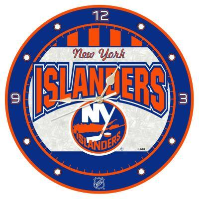NHL -12 in. Islanders Art Glass Clock